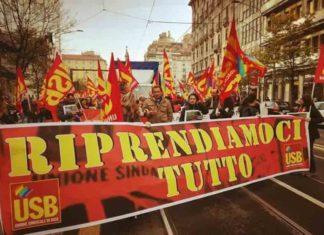 Sciopero Usb cooperative sociali domani a Montecitorio-1