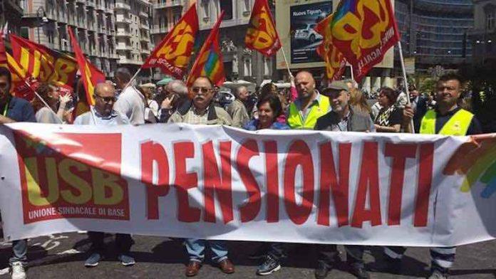 Usb governo contro diritto alla pensione