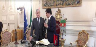 Il Presidente del Parlamento Europeo Antonio Tajani in visita a Catania