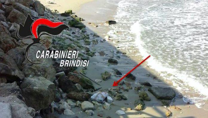 La droga stava sulla spiaggia