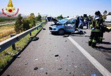 incidente stradale mortale sull'A19
