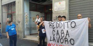 Protesta disoccupati del Comitato Reddito/Casa/Lavoro